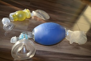 Adult and pediatric bag valve mask