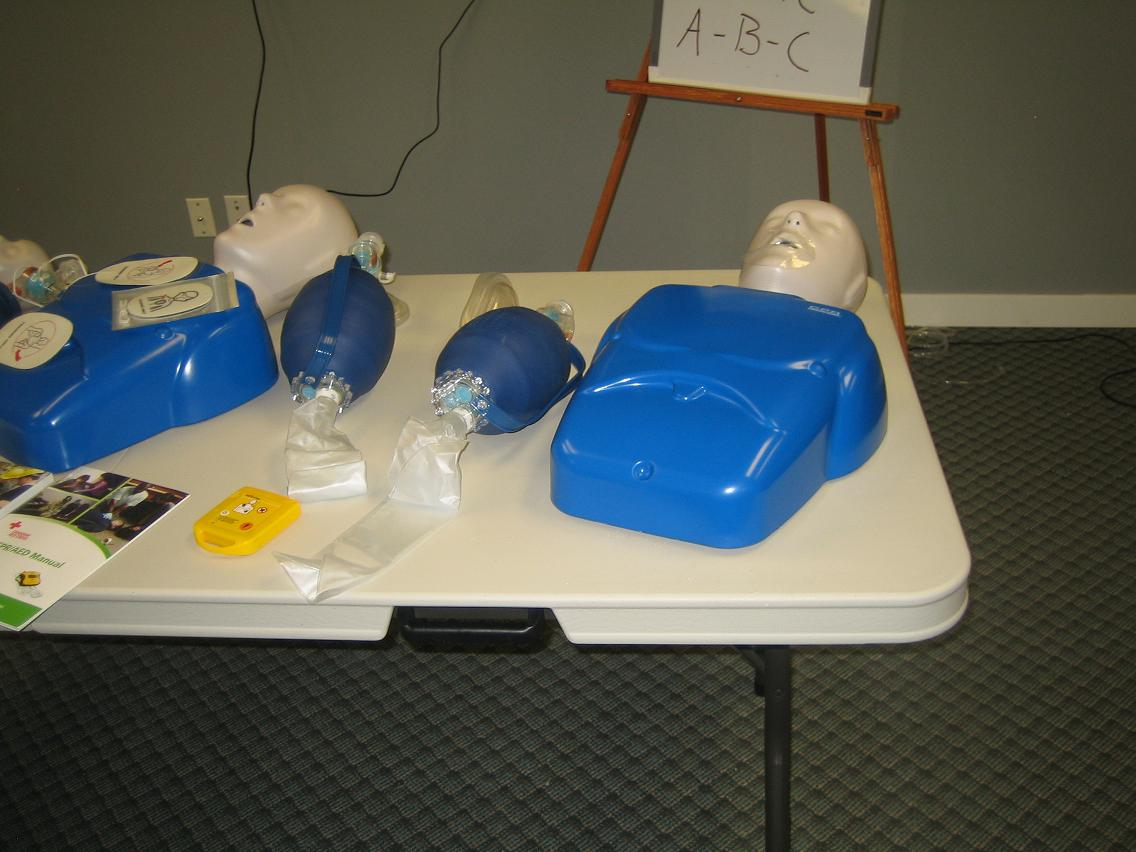 Red Cross CPR training courses and equipment