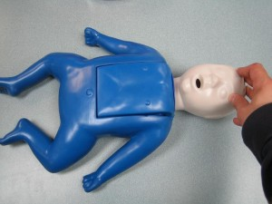 Infant choking-first aid